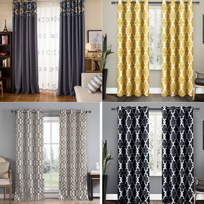 Collage of contemporary window treatments
