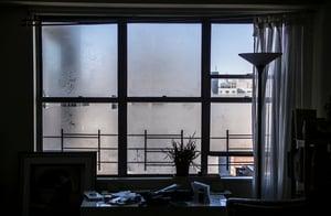 condensation on Florida apartment window