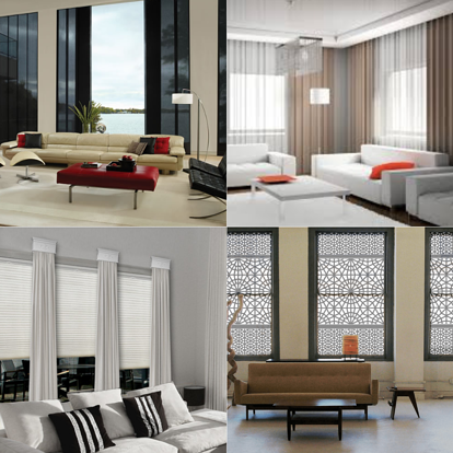 Collage of modern window treatments