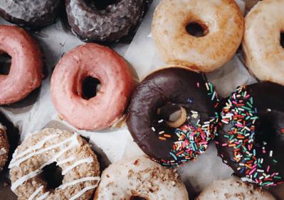array of doughnuts
