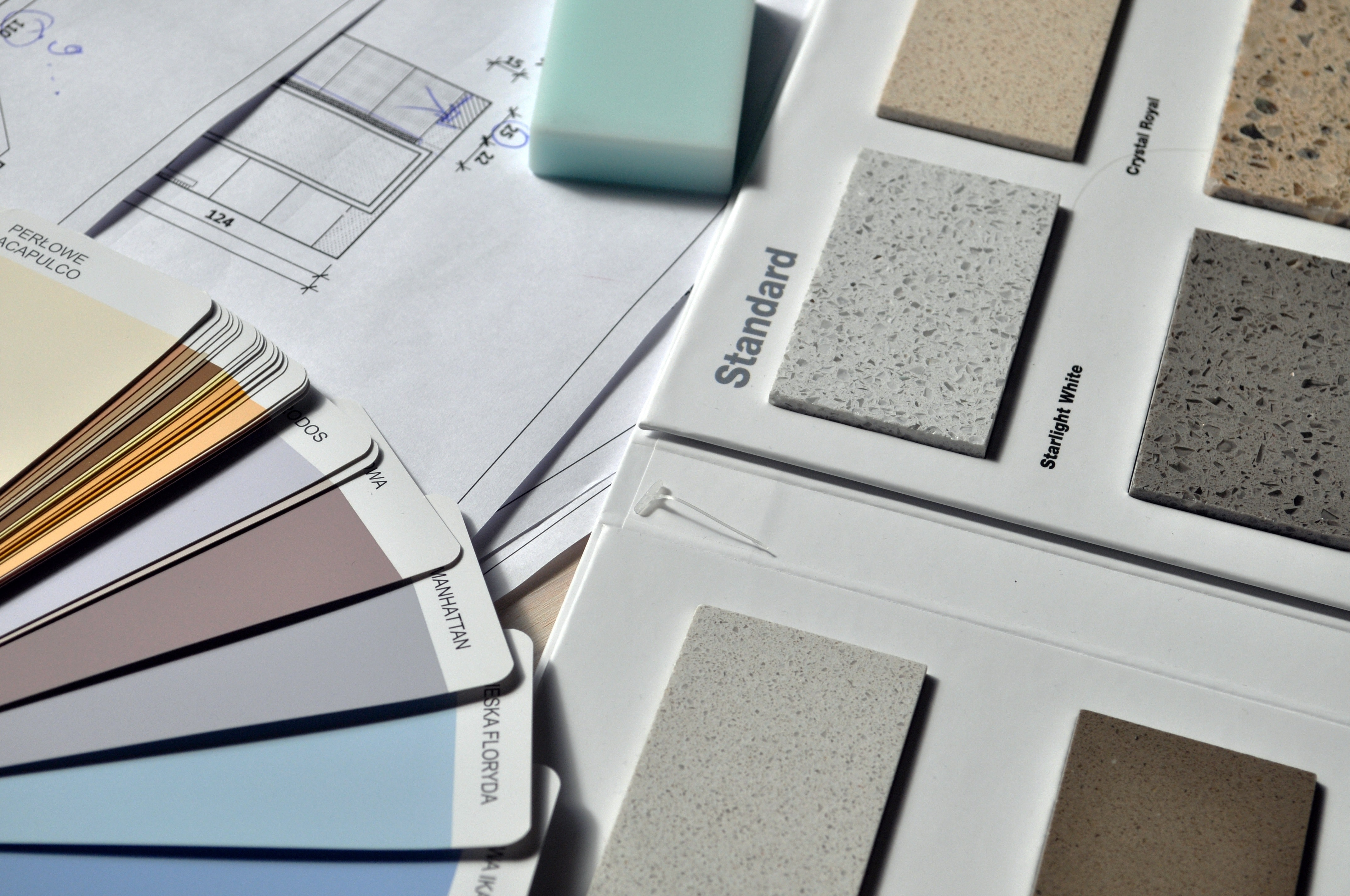 array of colors and textures for home improvement