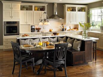 built in kitchen seating
