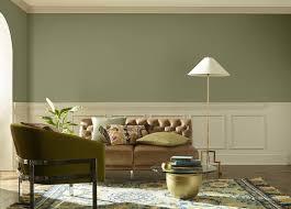 dusty green living room