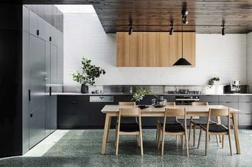 terrazzo floor in kitchen